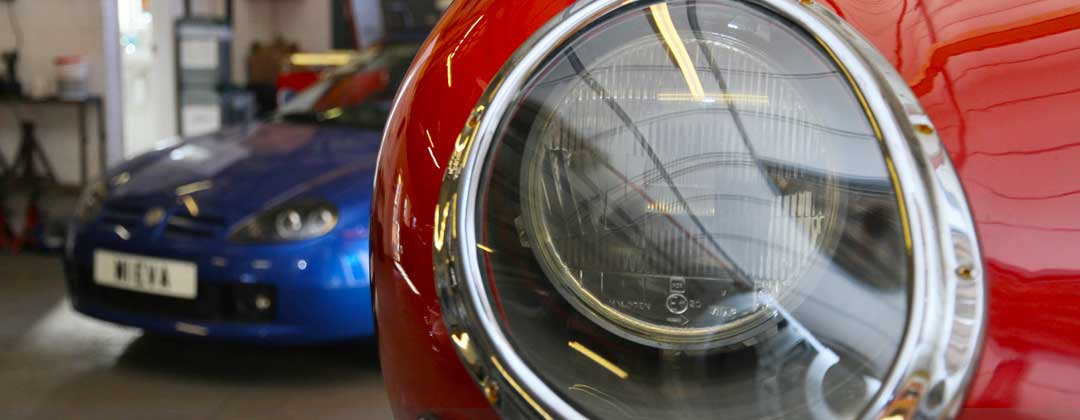 E-Type Jaguar Headlight